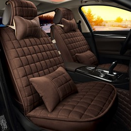 37 Classic Plaid Heat Retaining Pure Color Universal Car Seat Covers