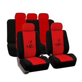 Environment-friendly Washable Durable Cute Bird Pattern Cloth Universal Car Seat Covers
