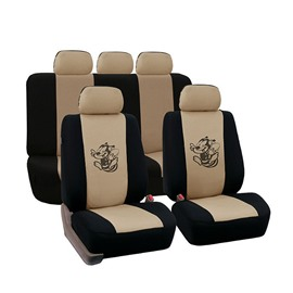 Environment-friendly Washable Durable Cartoon Bee Pattern Cloth Universal Car Seat Covers
