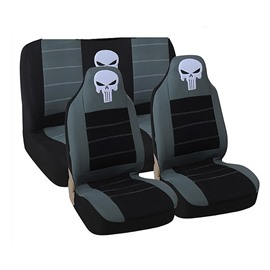 Reliable Quality Washable Water-proof Skull Pattern Environment-friendly Cloth Universal Car Seat Covers