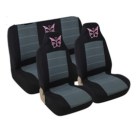 Reliable Quality Washable Water-proof Butterfly Pattern Environment-friendly Cloth Universal Car Seat Covers
