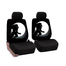 26 Firm Durable Washable Werewolf Pattern Front Seats Cloth Universal Car Seat Covers