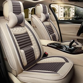 Double Color Collocation Leather Integrated Waist Pillow Universal Five Car Seat Covers