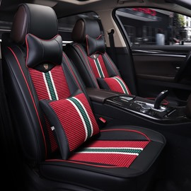 Excellent Typography Sports Style Durable Modeling Color Blocking Universal Car Seat Covers