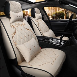 Elegant Royal Style Soft Comfortable Material Universal Five Car Seat Covers