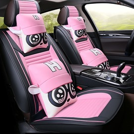 Big Eyes Cartoon Character Shapes Design Lovely Universal Five Car Seat Covers