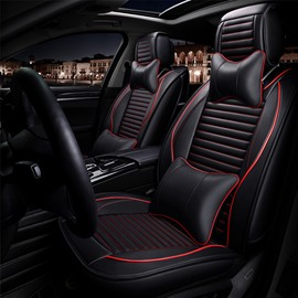 Sports Style 3D Stripes Design Superior Material Universal Five Car Seat Covers