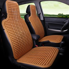 Cool Ice Bead Pure Color Front Single-seat Universal Car Seat Covers