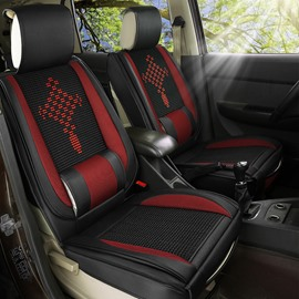 7 Seats High-quality Artificial Leather and Wear-resistant Ice Silk Material Universal Fit Seat Covers Two Front Seat Covers Are Fully Wrapped Please Note The Car Model and Seat Type When Placing an Order Such as 223 Car Seat Layout