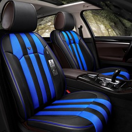Sports Style Bright Stripes Pattern Universal Fit Car Seat Covers