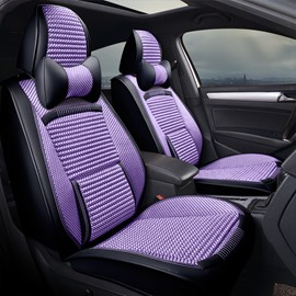 Handmade Knit Ergonomic Design Pure Color Universal Fit Car Seat Covers
