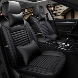 Business Style PU Material All Seasons Five Seats Combination Type Universal Seat Covers