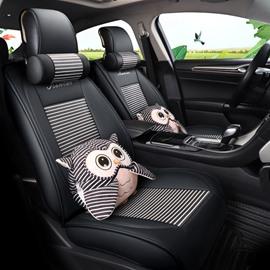 Cartoon Pattern PU Material Five Seats Type All Seasons Universal Seat Covers