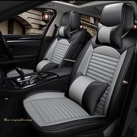 Business Style PU Material Five Seats Combination Type All Seasons Universal Seat Covers