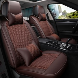 Nets Pattern PU Material Five Seats Combination Type Universal Seat Covers