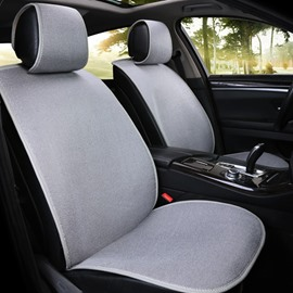 Casual Style Simple Design Linen Universal Car Seat Cover