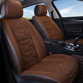 Linen Business Style Comfortable Simple Design Universal Car Seat Cover