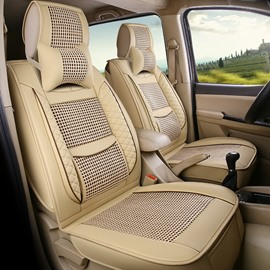 Simple Style All Seasons PU Leather Single Car Seat Covers Fir for Sedan SUV Van