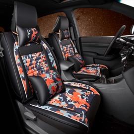 Disruptive Pattern PU Leather All Seasons Single Car Seat Covers