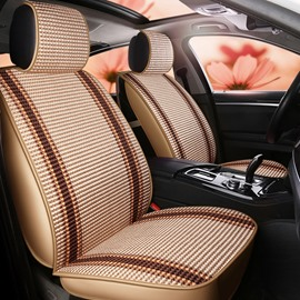 Stripe Pattern Ice Silk Fashion Style Universal Fit Seat Covers