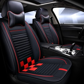 Grid Pattern Sport Style All Seasons Universal Fit Seat Covers