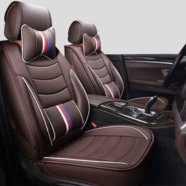 Sports Style 3D Linear Design Leather Universal Car Seat Cover