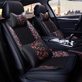 Classic Floral Fashion Style Middle Stripe Warm Seat Cover