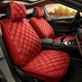 Raised Diamond Pattern Plain Seat Cover for Winter
