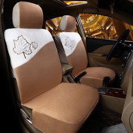 Maple Leaf Pattern Suede All-inclusive Universal Fit Seat Covers