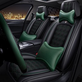 Traditional Business Style Bright Pillow Comfort Design Linen Universal Car Seat Cover