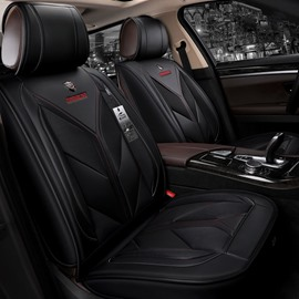 Sport Style Color Block Leather Material Universal Car Seat Cover