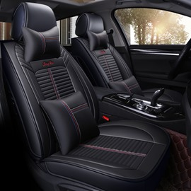 Simple Style Color Block PU Leather Universal Car Seat Cover