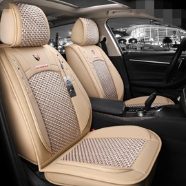 Business Style Plain Pattern Ice Silk Universal Car Seat Cover