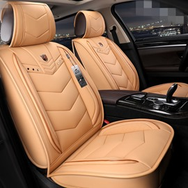 Modern Style Plain Pattern PVC Leather Universal Car Seat Cover