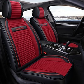 Simple Style Plain Pattern PU Leather Universal Car Seat Cover