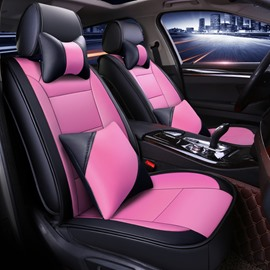 Luxury Sport Style Color Block PU Universal Car Seat Cover