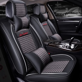 Luxury Modern Style Color Block Ice Silk Material Universal Car Seat Cover