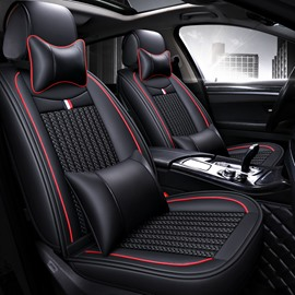Luxury Business Style Plain Pattern Ice Silk Material Universal Car Seat Cover