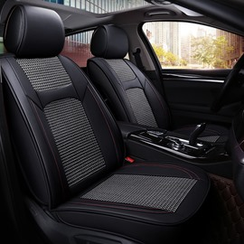 Business Style Plain Pattern Ice Silk Material Universal Car Seat Cover