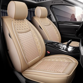 Plain Pattern Modern Style Ice Silk Universal Car Seat Cover
