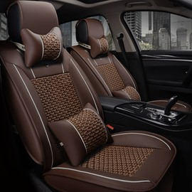 Luxury Plain Pattern Business Style Ice Silk Universal Car Seat Cover
