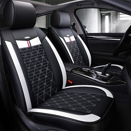 Business Style Grid Shape Design Easy To Detach And Install SOFT FEELING Universal Fit Seat Covers