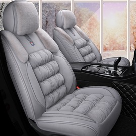 Princess Style Drape Design Flannel Material Warm Breathable Soft For Winter Universal Car Seat Covers
