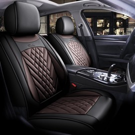 5 Seats Wear Resistant Leather Material Stereoscopic Design Comfortable And Wrinkle Resistant Universal Fit Seat Covers
