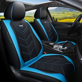 Full Coverage Exquisite Embroidery Design Of Dragonfly Hard-Wearing Dirt-Proof Unfading Leather 5 Seats Universal Fit Seat Covers