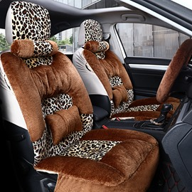 Winter Warm 5-Seater Full Coverage Custom Made Cashmere Material Airbag Compatible No Hair Removal Fluffy Soft Universal Fit Seat Cover