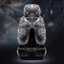 Full Coverage Winter Warm Custom Made Cashmere Material Airbag Compatible No Hair Removal Fluffy Soft Skin-Friendly 5-Seater Universal Fit Seat Cover