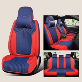 5-Seater Full Coverage Soft Comfortable Durable Man-Made Leather Universal Fit Seat Cover Suitable For Most 5-Seater Sedan Car/Jeep