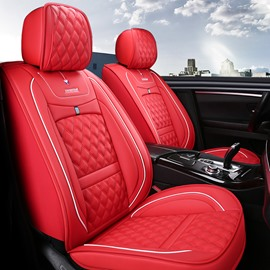 Business Style 5-Seater Full Coverage Wear-Resistant And Scratch-Proof Skin-Friendly Leather Comfort Easy To Clean Up Airbag Compatible Universal Fit Seat Covers