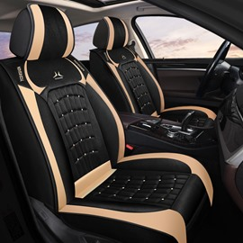 Car Seat Covers Full Coverage Breathable Polyester Fiber Material Wear-resistant Durable Skin-friendly Airbag Compatible 5-seater Universal Fit Seat Covers
